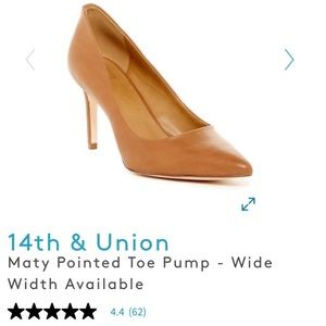 14th & Union Maty Pointed Toe Pump - Brown